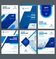 blue brochures annual reports flyers design