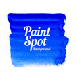 blue paint spot banner vector image