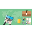 businessman things and tools vector image vector image