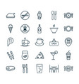 cafe icons set collection of stick barbecue food vector image vector image