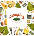 camping flat vector image vector image