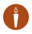 candle flame isolated icon vector image vector image