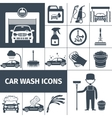 Car wash service icons set black vector image vector image