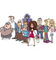 cartoon people group vector image vector image