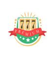 casino logo colorful gambling vintage emblem vector image vector image