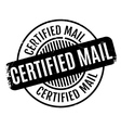 Certified Mail rubber stamp vector image vector image
