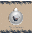 Christmas ball with winter landscape vector image vector image