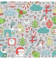 Christmas seamless patter vector image