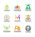 collection of social and community logo vector image vector image