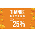collection thanksgiving background with pumpkin vector image vector image