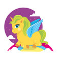 colorful pony horse smiling vector image