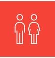 Couple line icon vector image vector image