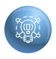 creative idea bulb icon outline style vector image
