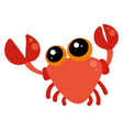 cute little crab on white background vector image vector image