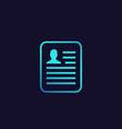 cv resume application icon vector image
