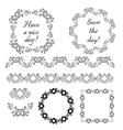 Decorative vintage frames and design elements vector image