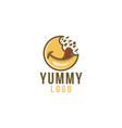 delicious food yummy logo designs inspiration vector image