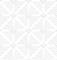 Diagonal white wavy lines and pointy squares vector image vector image