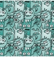 Doodle monsters seamless pattern vector image vector image