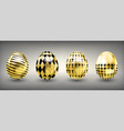 easter shiny golden eggs with rumb and cross vector image vector image