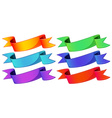 Empty ribbons vector image vector image