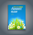 enjoy hot summer template vector image vector image