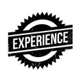 experience rubber stamp vector image vector image