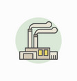 factory and plant colorful icon vector image vector image