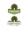 farm-logo vector image vector image
