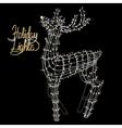 Glowing Christmas deer vector image