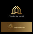 gold letter a building business logo vector image vector image