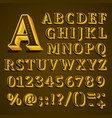 golden english alphabet on khaki background vector image vector image
