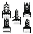 Gothic style chairs set vector image vector image