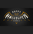 halloween hand drawn vector image vector image