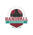Handball championship emblem vector image vector image