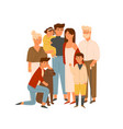 happy big family together flat wife vector image vector image