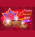 happy diwali 2018 poster on vector image vector image