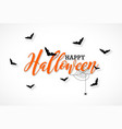 happy halloween with vector image