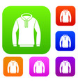 hoody set collection vector image vector image