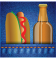 hot dog and beer vector image vector image
