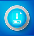 html file document icon download html button vector image