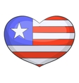 Independence day heart icon cartoon style vector image vector image