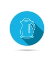 Kettle icon Kitchen teapot sign vector image vector image