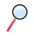 lens magnifying glass cartoon vector image vector image