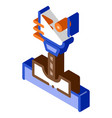 manufacturing process metallurgical isometric icon vector image vector image