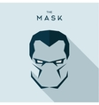 Mask anti hero villain head to look seriously the vector image