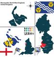 Merseyside North West England vector image