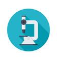 microscope science icon vector image vector image