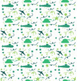 military seamless pattern vector image vector image