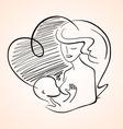 mother breastfeeding bachild vector image